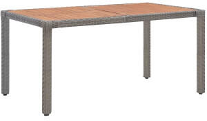 VidaXL vidaXL Gartentisch 150x90x75cm Poly Rattan/Massivholz Akazie grau
