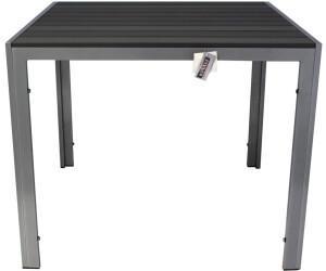 Kynast Aluminium Gartentisch 90x90cm anthrazit/silber