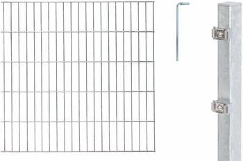 GAH-Alberts Zaun-Set Doppelstabmatte 6/5/6 BxH: 10 m x 100 cm feuerverzinkt