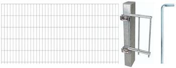 GAH-Alberts Zaun-Set Doppelstabmatte 10 m x 120 cm feuerverzinkt