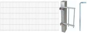 GAH-Alberts Zaun-Set Doppelstabmatte 10 m x 160 cm feuerverzinkt