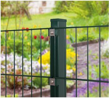 Floracord Peddy Shield Zaunpfosten Stahl H: 120 x 4 x 4 cm grün