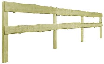 vidaXL 2-Querlatten-Gartenzaun Kiefernholz 90×510 cm (44942)