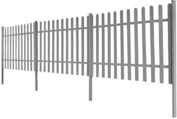 vidaXL Lattenzaun mit Pfosten 3-Stk. WPC 600x100 cm (42828)
