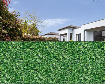Floraworld Sichtschutzstreifen 20,5 m x 19 cm, grün / Blätteroptik (017422)