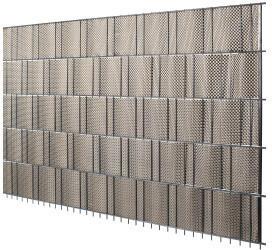 Floraworld PVC-Sichtschutzstreifen Rattanoptik 19 x 210 cm 5 Stk. goldbraun
