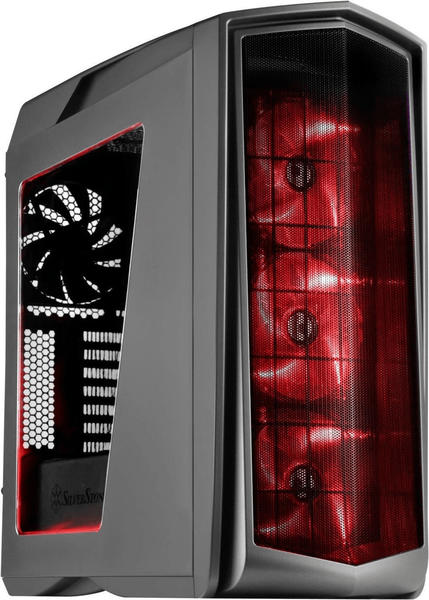 SilverStone Primera PM01 titan rote LED Lüfter