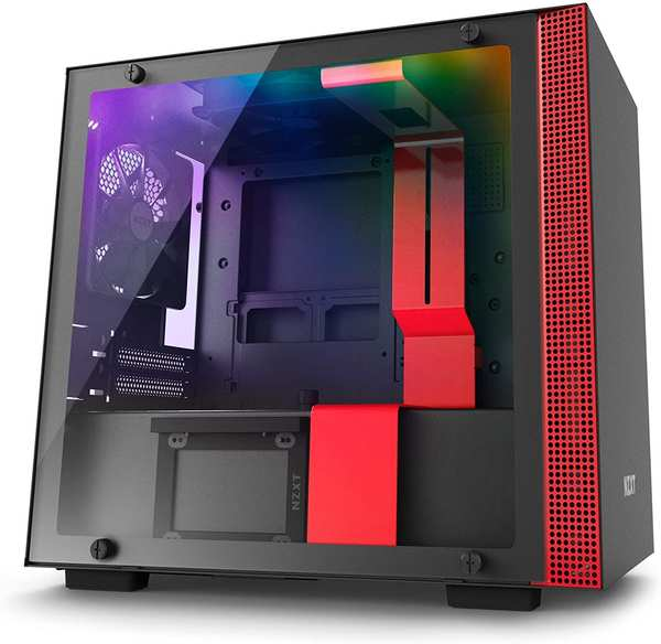 NZXT H200i schwarz rot