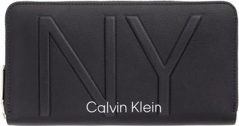Calvin Klein Shaped Large Ziparound Purse (K60K606066) black
