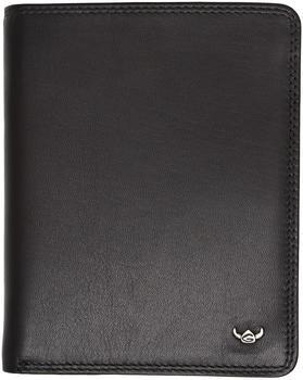 Golden Head Polo RFID Predect Billfold Coin Wallet black (1289-51)
