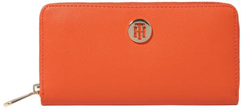Tommy Hilfiger Monogram Plaque Zip-Around Wallet (AW0AW08891) tuscon orange