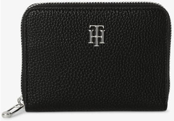 tommy-hilfiger-th-essence-monogram-medium-zip-around-wallet-black