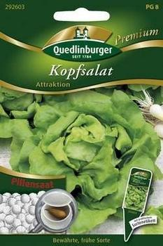 Quedlinburger Saatgut Kopfsalat Attraktion (Pillensaat)
