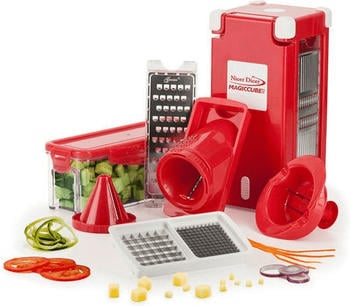 Genius Nicer Dicer Magic Cube 12-teilig rot
