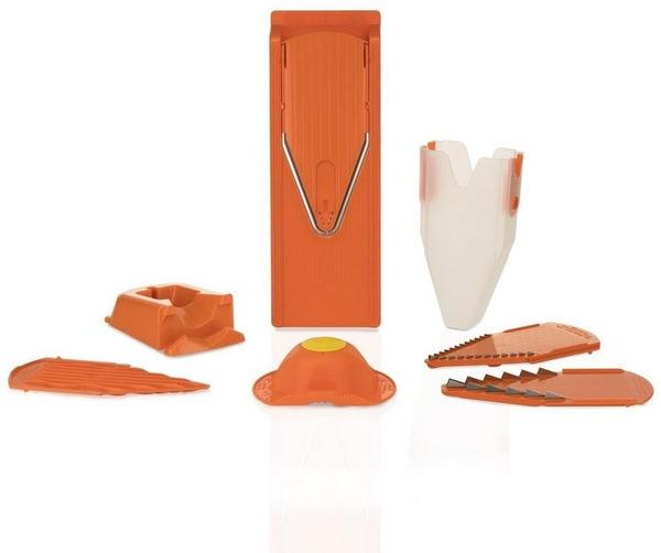 Börner Gemüsehobel V3 TrendLine Profi Set mit 2 Messereinschüben und Dockingstation, orange