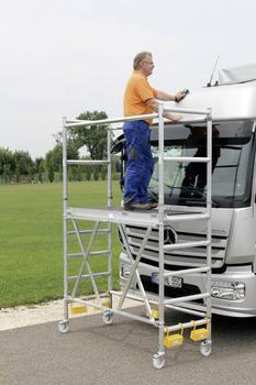 Günzburger Steigtechnik Aluminium Klappgerüst Arbeitshöhe 360 cm