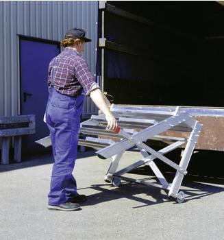 Günzburger Steigtechnik Aluminium Arbeitspodest fahrbar 600mm 2 Stufen