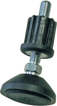 Krause Fußplatten mit Gummiauflage höhenverstellbar für Montagetritt 4 Stück (805133)