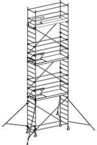 Hymer Fahrgerüst mit Ausleger 6371/08