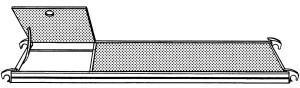 Hymer Bühne mit Durchstiegsklappe 2,45 x 0,65 m (677124 )
