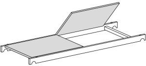 Hymer Bühne mit Durchstieg 1,58 x 0,61 m (7089424)