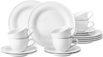 Seltmann Weiden Beat Kaffeeservice 18 tlg weiß