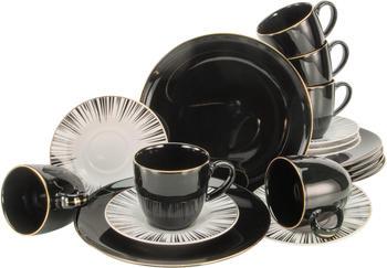 CreaTable Kaffeeservice Enjoy Black Style (18-tlg.)