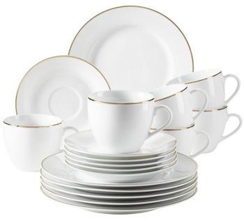 Mäser Kaffeeservice Professional Dining weiß/gold (18-tlg.)
