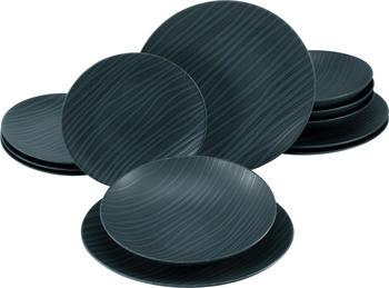 CreaTable Tafelservice Waves black (12-tlg.)