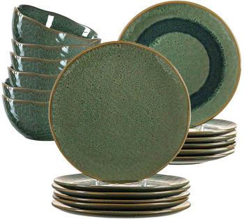 Leonardo Geschirr-Set Matera grün (18-tlg.)