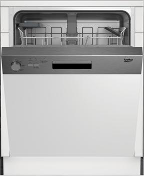 Beko DSN04310X Geschirrspüler teilintegrierbar/A+/81,8 cm/295 kWh/Jahr/Edelstahl-Blende