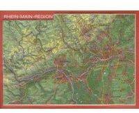 Georelief Gbr Reliefpostkarte Rhein-Main-Region