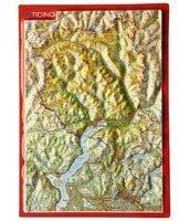 Georelief Gbr Reliefpostkarte Tessin