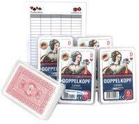 Ludomax Fünferpaket DOPPELKOPF Karten ASS Leinen - Qualität Spielkarten