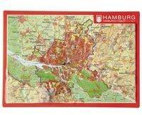 Georelief Gbr Reliefpostkarte Hamburg
