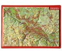 Georelief Gbr Reliefpostkarte Dresden