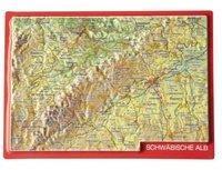 Georelief Gbr Reliefpostkarte Schwäbische Alb