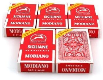 Ludomax Fünferpaket Siciliane Extra Spielkarten, Triplex von Modiano - ScopaBriscola