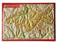 Georelief Gbr Reliefpostkarte Graubünden
