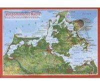 Georelief Gbr Reliefpostkarte Vorpommern Küste