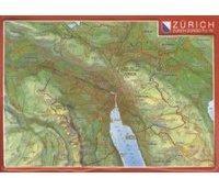 Georelief Gbr Reliefpostkarte Zürich
