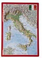 Georelief Gbr Reliefpostkarte Italien