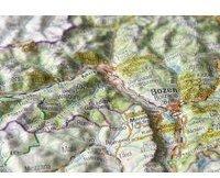 Georelief Gbr Reliefpostkarte Südtirol