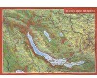 Georelief Gbr Reliefpostkarte Region Zürichsee