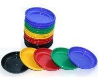 Ludomax 20 Stück Großpackung Spielgeldteller, Teller aus Kunststoff für Chips oder Spielgeld