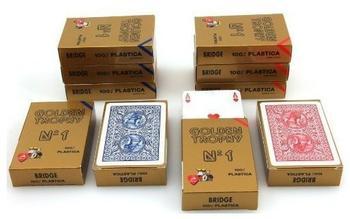 Ludomax Zehnerpaket Golden Trophy No.1 von Modiano, 100 % plastic Spielkarten