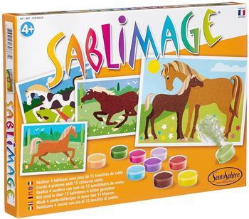 Sentosphère Sablimage - Sandbilder Pferde