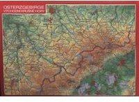 Georelief Gbr Reliefpostkarte Osterzgebirge