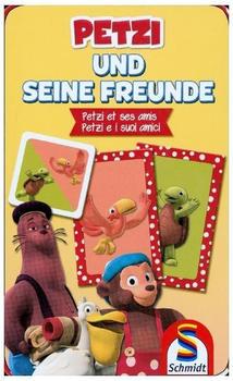 Schmidt Spiele Reisespiel Legekartenspiel Petzi und seine Freunde