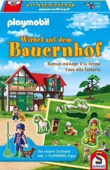 Schmidt Spiele Kinderspiel Logikspiel Playmobil Wirbel auf dem Bauernhof 40593